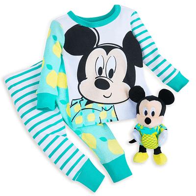 Pijama 2p Mickey incluye peluche sonajero