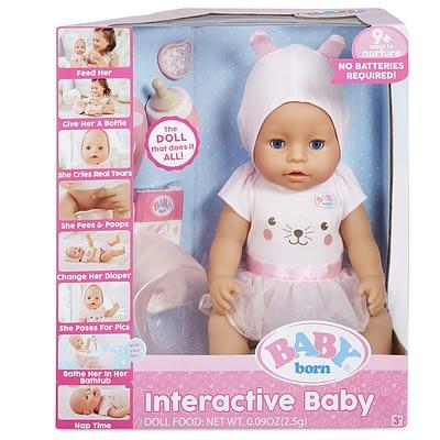 Baby Born Interactiva Ojos Azules