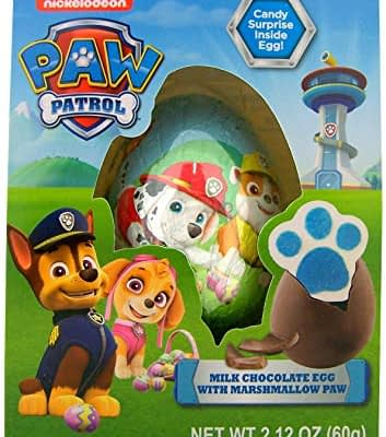 Huevo Paw Patrol Chocolate Con Marshmallow Sorpresa