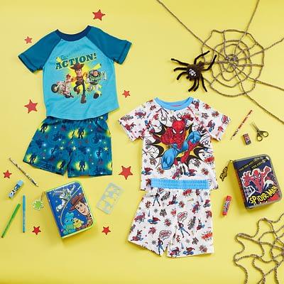 Pijama Short Spiderman Blanca